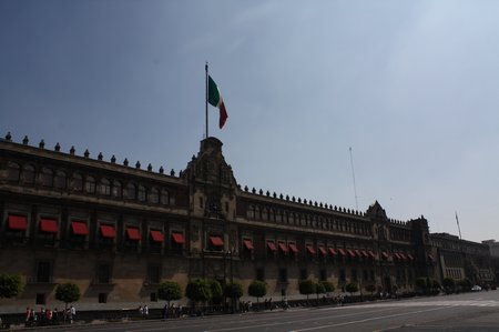 Sightseeing in Mexiko City - Nationalpalast