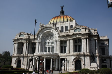 Sightseeing in Mexiko City - Palacio de Bellas Artes