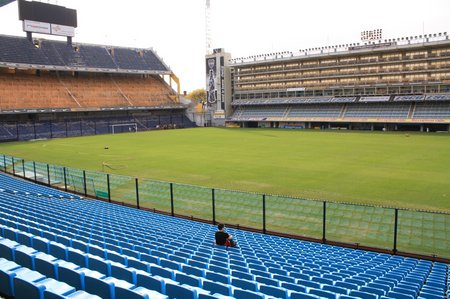 La Boca in Buenos Aires - Maradona live