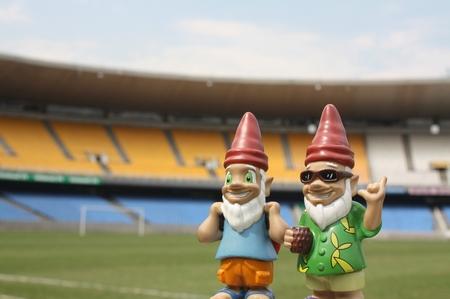 Gnomads im Fußballstadion in Rio de Janeiro