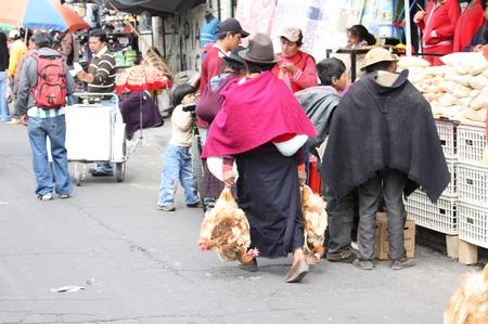 Tiermarkt in Südamerika