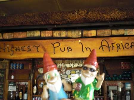 Höchster Pub von Afrika
