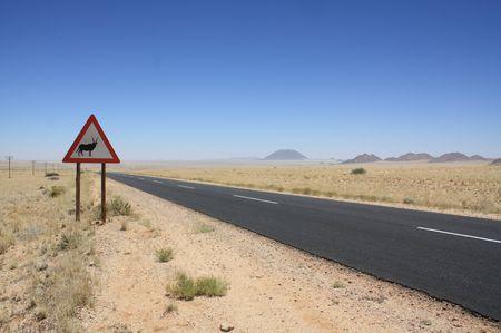 Straße in Namibia