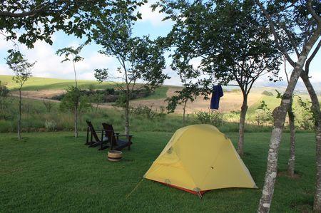 Zelten in Südafrika
