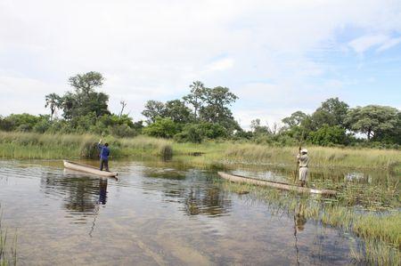 Mokorofahren im Okavango Delta