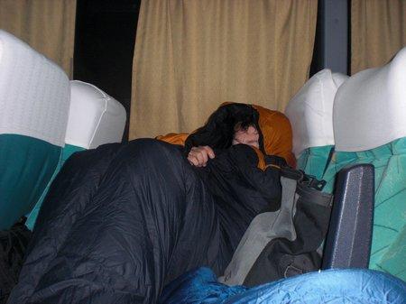 eine Nacht im Bus