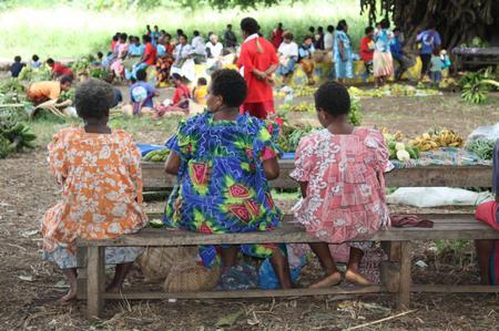 Marktfrauen auf Tanna