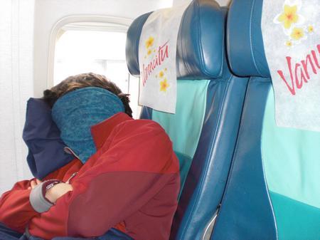 Schlafen im Flieger