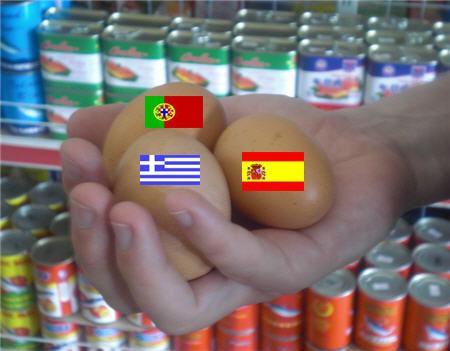 südeuropäische Wut-Wurf-Eier