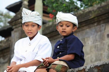 Menschen auf Bali