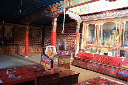 medizinische Bibliothek in Tibet