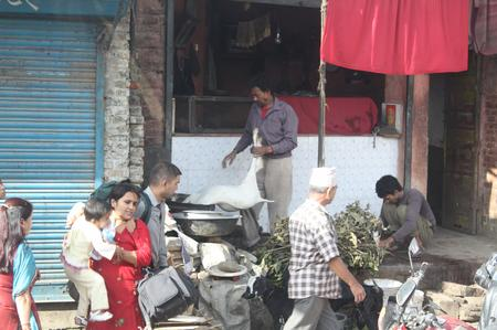 Straßenleben Nepal